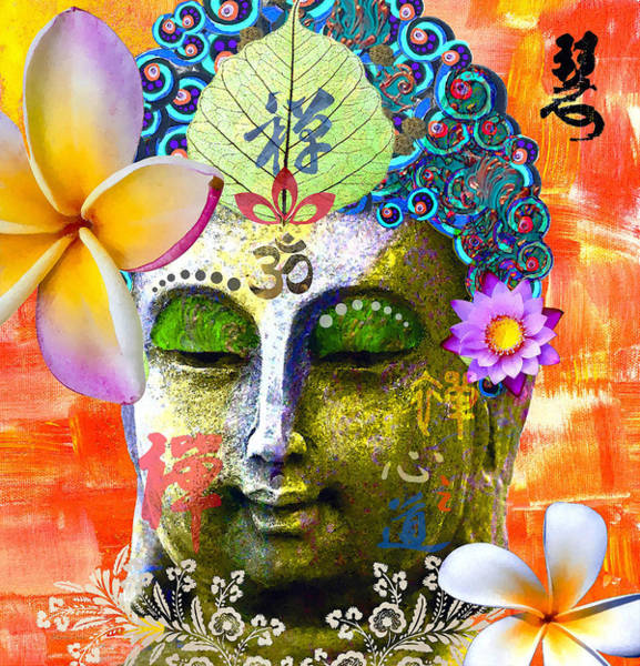Temple Mixed Media - Timeless Wisdom by Stacey Chiew