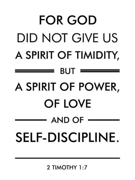 Scripture Mixed Media - 2 Timothy 1-7 - Spiritual Wall Art - Bible Verses Art - Minimalist Scripture by Studio Grafiikka