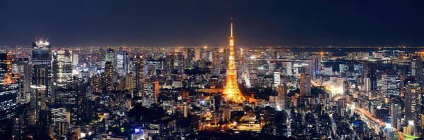 Wall Art - Photograph - Tokyo Skyline by Songquan Deng