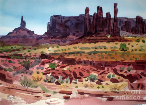 Butte Painting - Totem Poles by Donald Maier