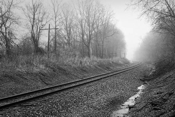 Photograph - Tracks In Morning Fog by Lars Lentz