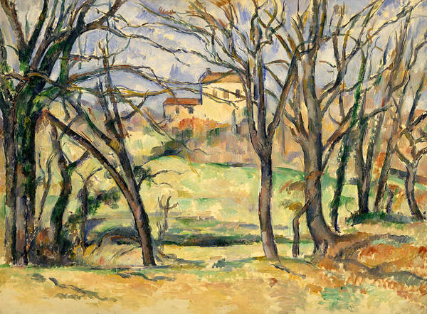 Painting - Trees And Houses Near The Jas De Bouffan by Paul Cezanne