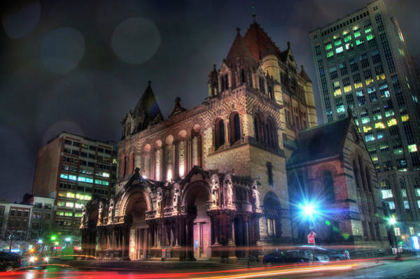 Photograph - Trinity Church - Copley Square Boston by Joann Vitali