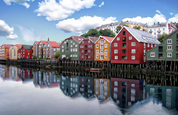 Trondheim Coastal View Art Print