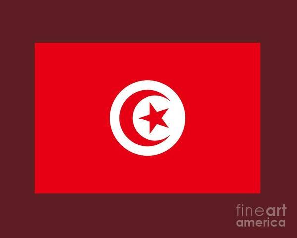 Tunisia Digital Art - Tunisia Flag by Frederick Holiday