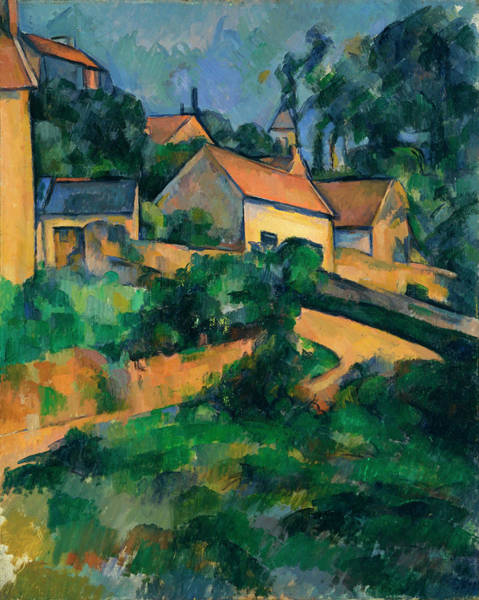 Turning Painting - Turning Road At Montgeroult by Paul Cezanne