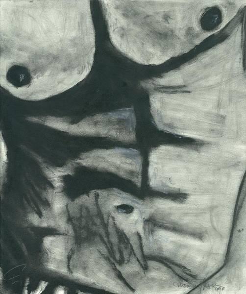 Nipples Drawing - Twisted Torso by Thomas Cavaness