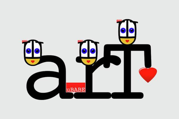 Digital Art - uBABE Art by Charles Stuart