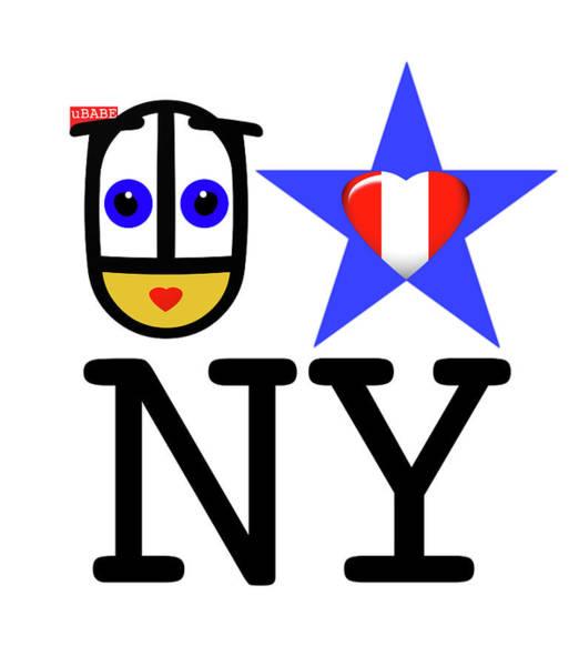 Wall Art - Digital Art - uBABE Loves New York by Charles Stuart