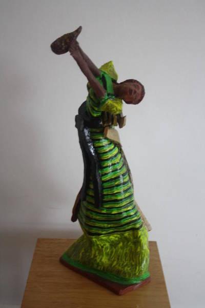 Sculpture - Uganda Dancer by Gloria Ssali