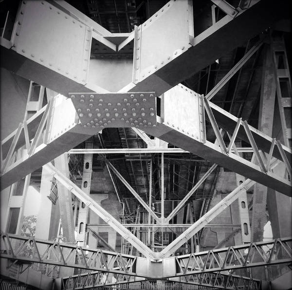 Steel Beams Wall Art - Photograph - Under The Bridge by Les Cunliffe