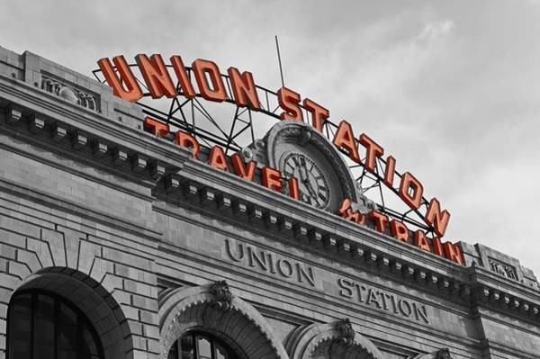 Architectural Details Photograph - Union Station - Denver  by Jeff Steen