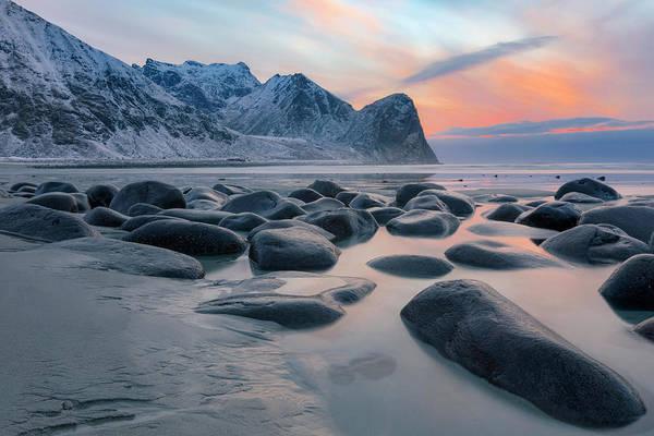 Berge Wall Art - Photograph - Unstad, Lofoten - Norway by Joana Kruse
