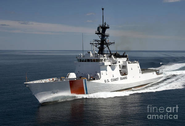 Wall Art - Photograph - U.s. Coast Guard Cutter Waesche by Stocktrek Images