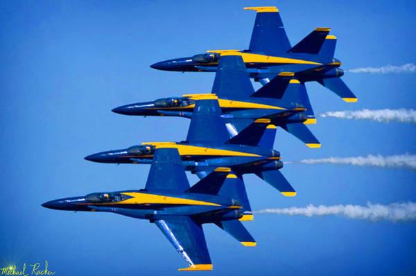 Wall Art - Photograph - Us Navy Blue Angels by Michael Rucker
