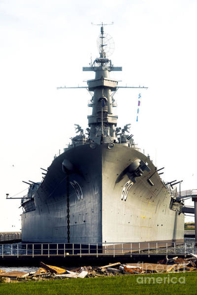 Wwii Mixed Media - Uss Alabama Bb-60 by Baltzgar