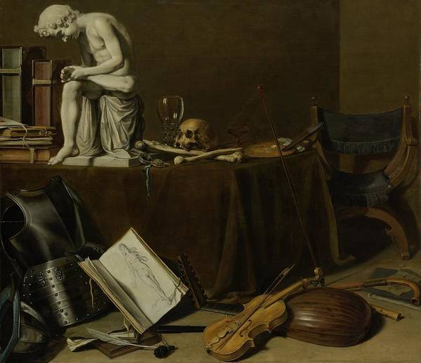 Food Groups Painting - Vanitas Still Life With The Spinario,  by Pieter Claesz