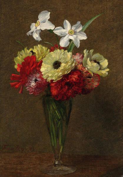 Wall Art - Painting - Vase Of Flowers by Henri Fantin-Latour