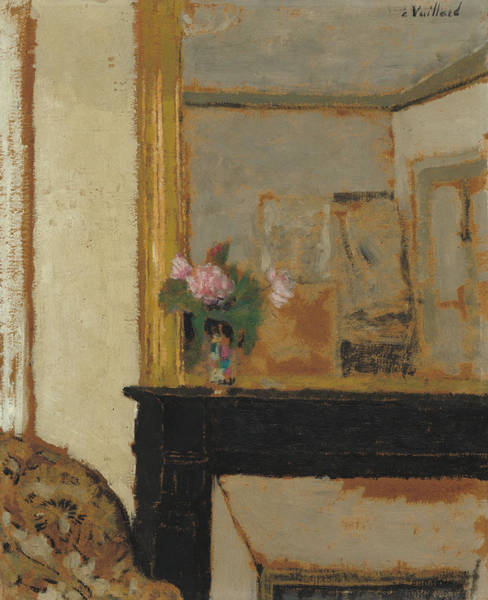 Painting - Vase Of Flowers On A Mantelpiece by Edouard Vuillard