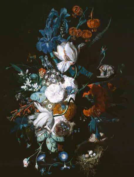 18th Century Wall Art - Painting - Vase With Flowers by Jan van Huysum