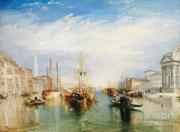 Waterway Painting - Venice, From The Porch Of Madonna Della Salute by Joseph Mallord William Turner