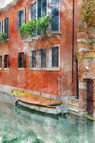 Photograph - Venice Italy Canals With Colorful Houses And Boats by Brandon Bourdages