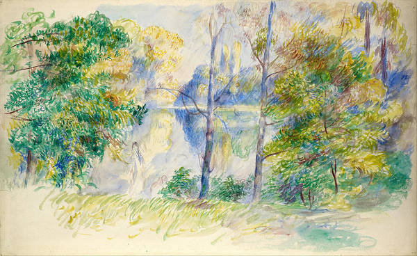 Painting - View Of A Park by Auguste Renoir