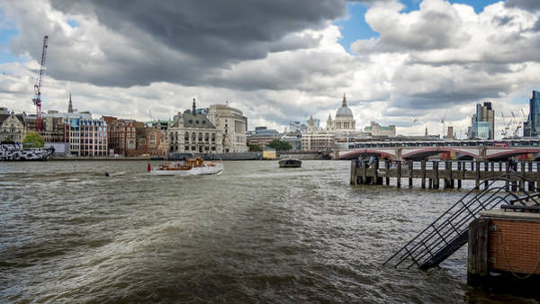 Square Aspect Wall Art - Photograph - View Of St Paul's From South Bank London by Mike Walker
