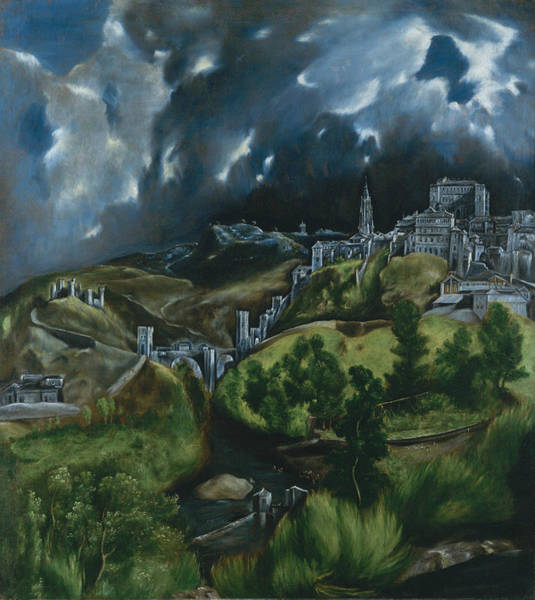 Renaissance Painters Wall Art - Painting - View Of Toledo by El Greco