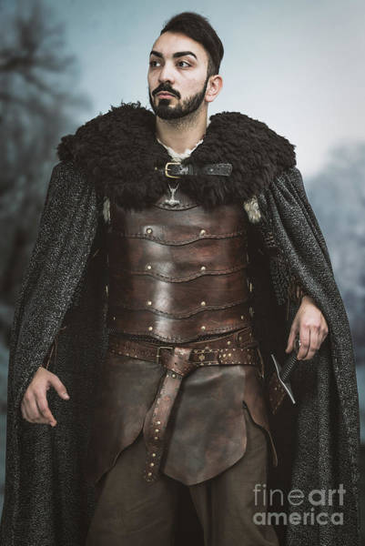 Game Of Thrones Photograph - Viking Warrior With Sword by Amanda Elwell