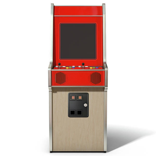 Controller Digital Art - Vintage Arcade Machine by Allan Swart