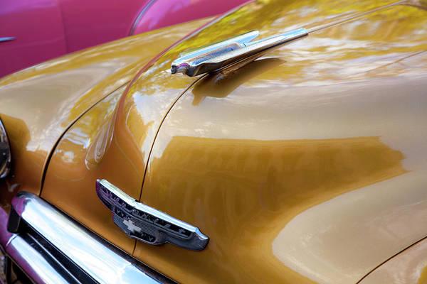 Wall Art - Photograph - Vintage Chevy Hood Ornament Havana Cuba by Charles Harden