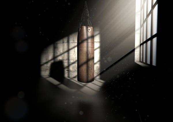 Hit Digital Art - Vintage Leather Punching Bag by Allan Swart