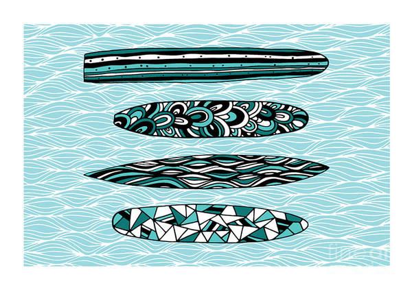 Wall Art - Digital Art - Vintage Surfboards Part1 by MGL Meiklejohn Graphics Licensing