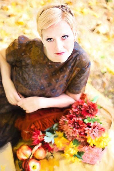 Digital Art - Vintage Val Autumn Picnic by Jill Wellington