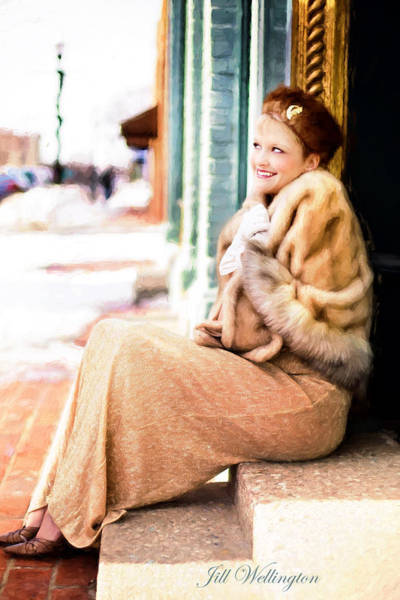 Digital Art - Vintage Val Winter Glam by Jill Wellington
