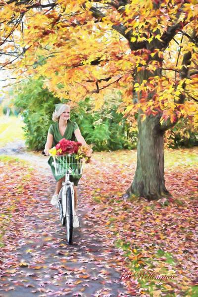 Digital Art - Vintage Val Bike Ride by Jill Wellington