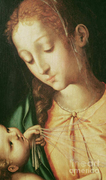 Wall Art - Painting - Virgin And Child by Luis de Morales