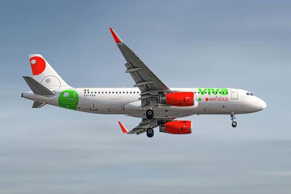 Wall Art - Mixed Media - Vivaaerobus Airbus A320-232 by Smart Aviation