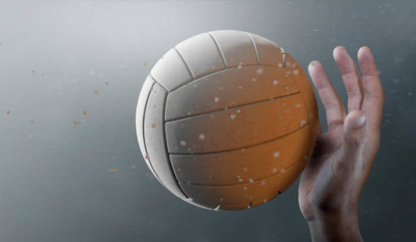 Hit Digital Art - Volleyball In Flight by Allan Swart