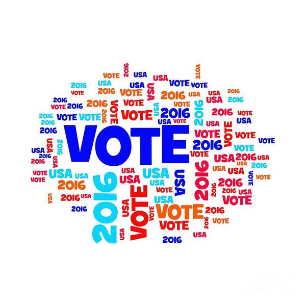Presidency Digital Art - Vote Usa 2016 by Henrik Lehnerer