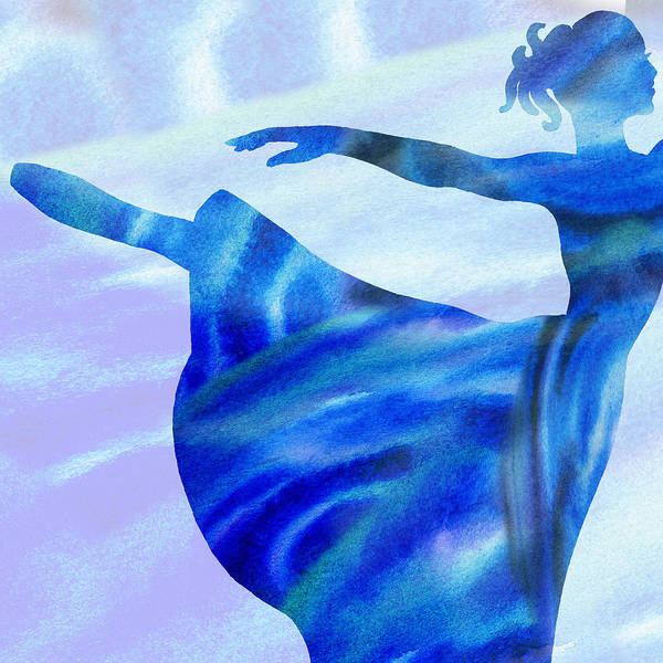 Painting - Watercolor Ballerina Silhouette By Irina Sztukowski by Irina Sztukowski
