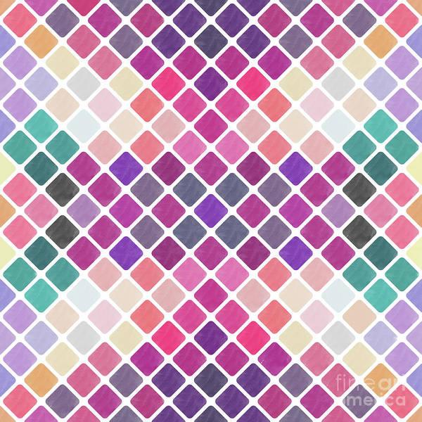 Wall Art - Digital Art - Watercolor Geometric Background by Amir Faysal
