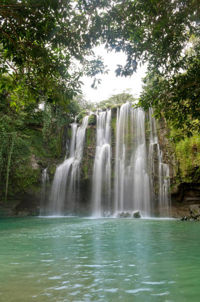 La Libertad Photograph - Waterfall In A Forest, Llanos De Cortez by Panoramic Images