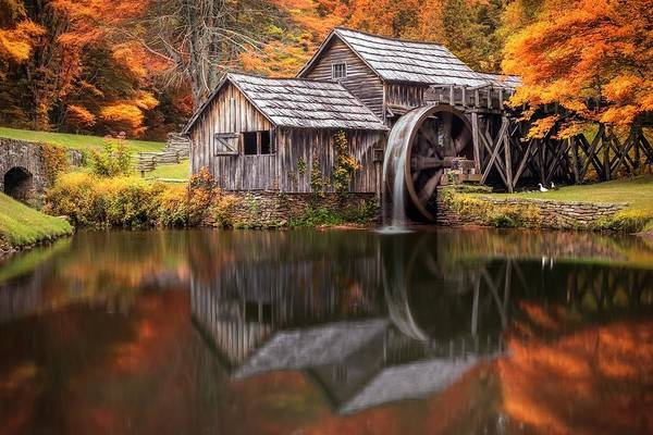 Architecture Digital Art - Watermill by Super Lovely