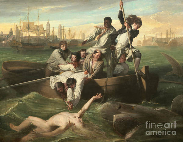 Reach Painting - Watson And The Shark by John Singleton Copley