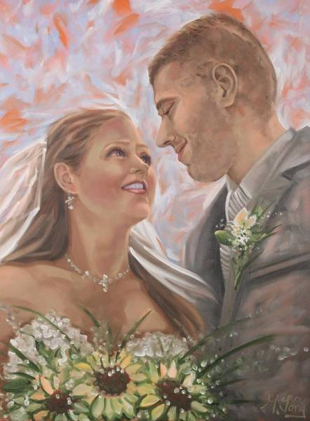 Painting - Wedding Portrait by Gary M Long