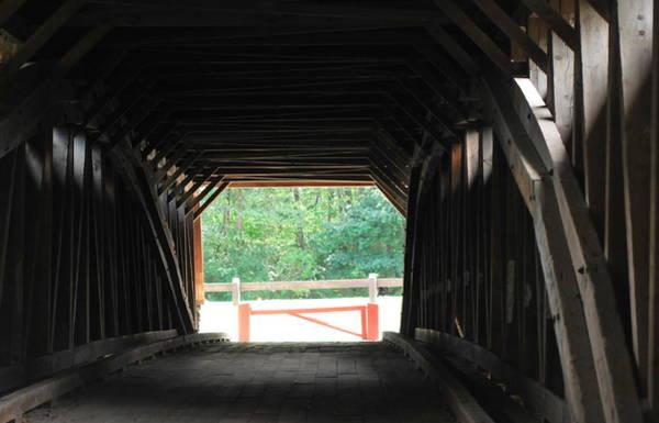 Tulpehocken Creek Photograph - Wertz Red Covered Bridge by Michelle DiGuardi
