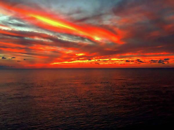 Photograph - Western Caribbean Sunset by Anthony Dezenzio
