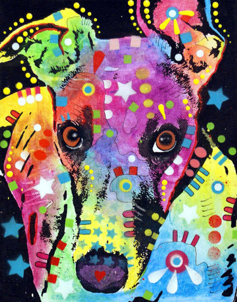 Canine Wall Art - Painting - Whippet by Dean Russo Art